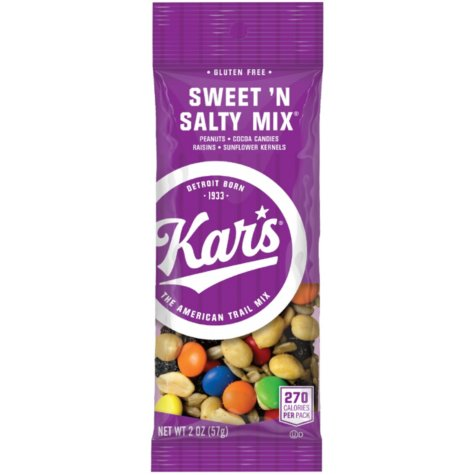kar's kars sweet and salty trail snack mix front of 2 oz bag