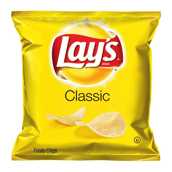 Lays Classic original snack potato chips front of 1 oz bag