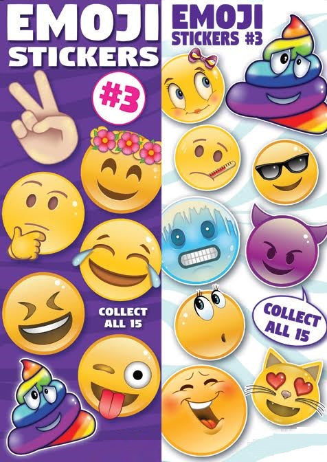 Emoji Stickers in vending folders