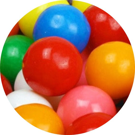 1 inch assorted flavor bubble gumballs 50 pieces