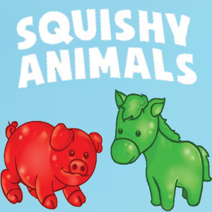 squishy animals 1 inch vending capsules