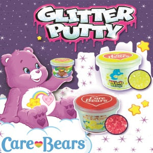 "Care Bear Glitter Silly Putty in 2"" Capsules"