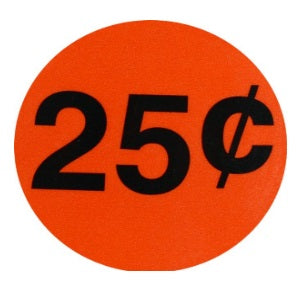 25 cent vending Label