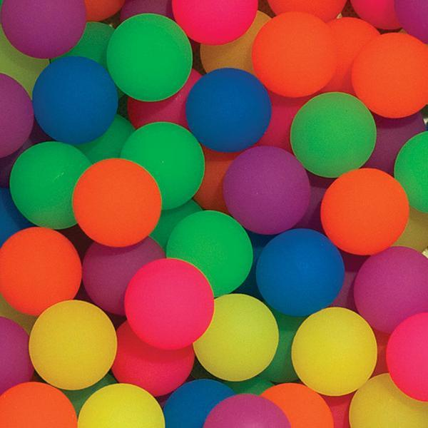 60 mm diameter Frosty finished bouncy balls close up