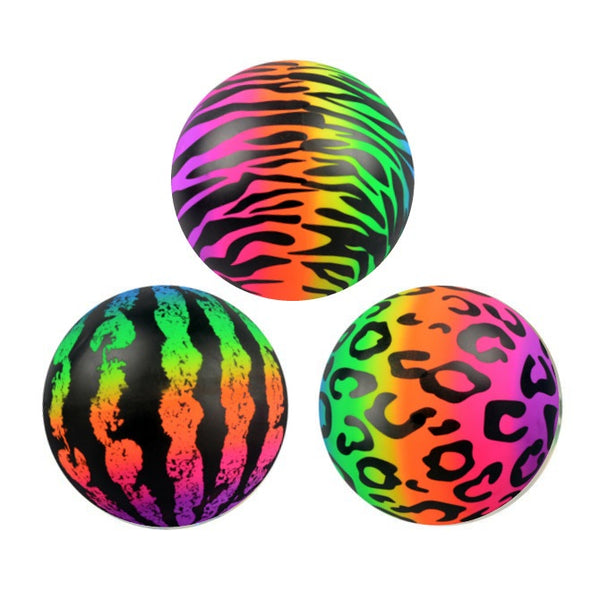 "6"" Vinyl Pattern Printed Rainbow Balls 100 ct product detail"