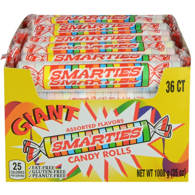 Giant Smarties in display box 36 ct