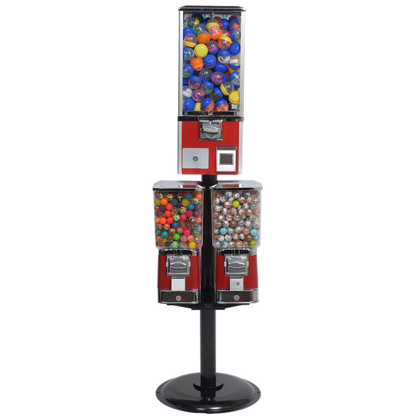 Mini Coin Operated Games Gumball Capsule Toy Spiral Vending Machine Coin Operated Games Entertainment