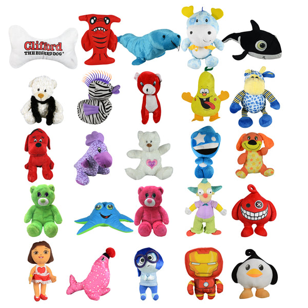 20% Licensed Jumbo Plush Mix - 75 ct