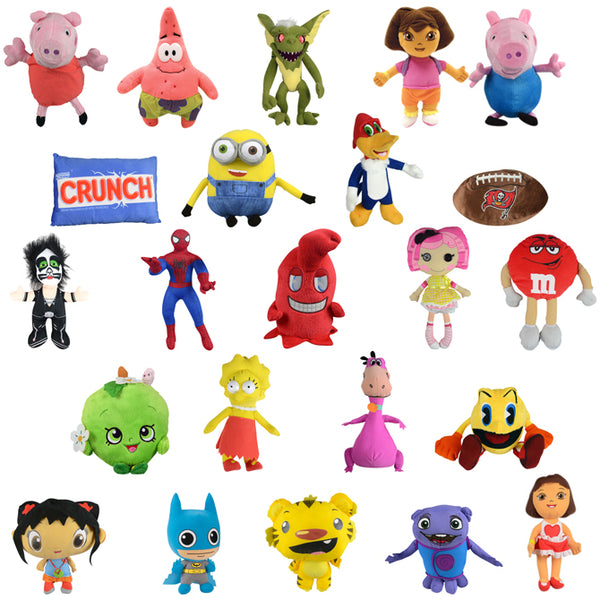 100% Licensed Jumbo Plush (Mix A) - 50 ct