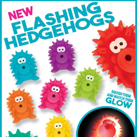 Flashing Hedgehogs 4 Inch Toy Capsules