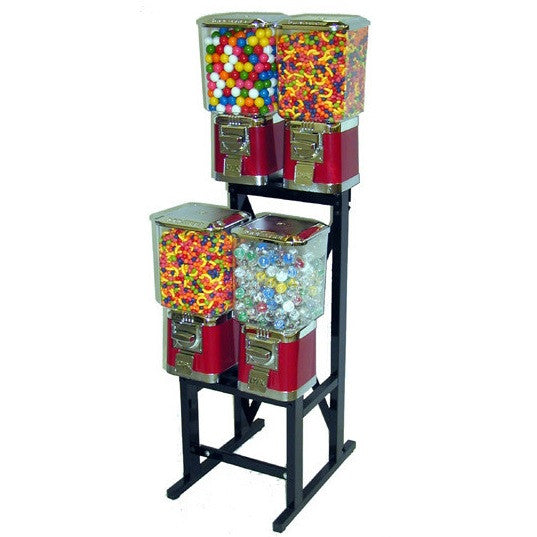LYPC 4 unit bulk vending machine rack