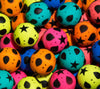 32 mm bouncy balls with geometric shapes theme