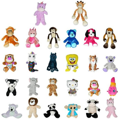 50% Licensed Giant Monster Plush Mix Stuffed Animal Assortment Half Licensed Characters Half Generic