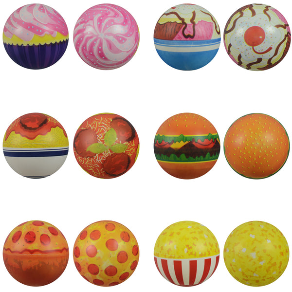 six inch printed Food Vinyl Inflatable balls popcorn pepperoni pizza product detail crane machine refill product detail