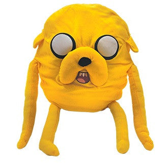 Giant plush toy based on Jake from the Adventure Time cartoon series