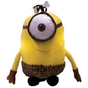 Giant size plush toy based on the Minion Caveman character