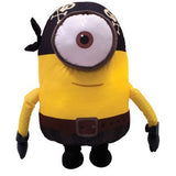 Giant sized plush toy based on the Minion Pirate character