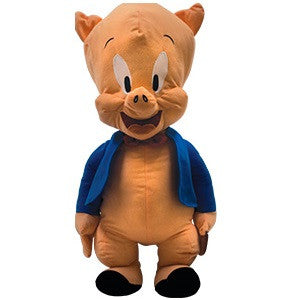 Giant plush toy based on Porky the Pig from the Looney Tunes cartoon series