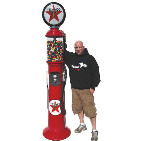 7 foot 6 inch tall replica gas pump gumball machine
