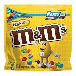 M&Ms Peanut Milk Chocolate Candy, Party Size 42 ounces