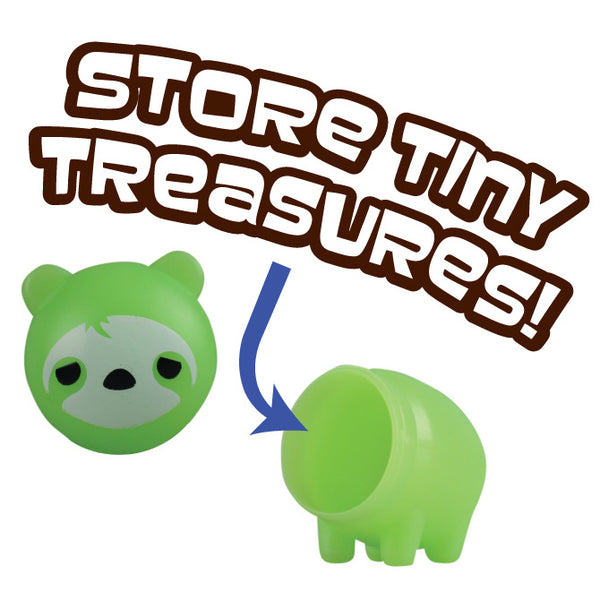 Acornimals acorn animal product showing that you can store treasures inside