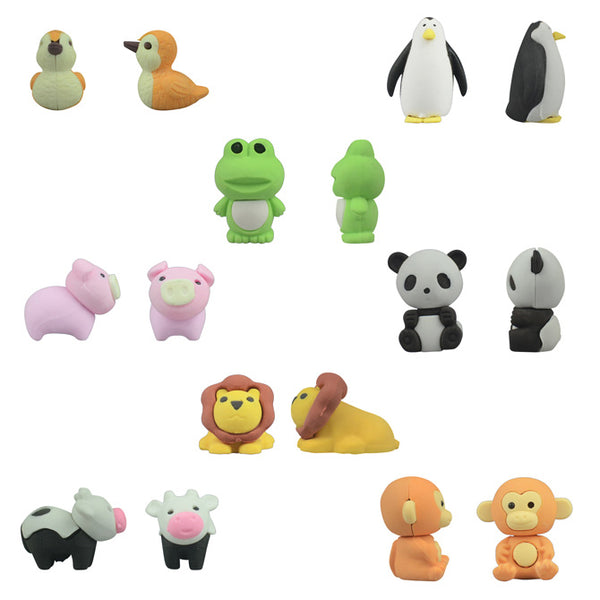 "Animal Erasers 1"" Capsules Product Detail"