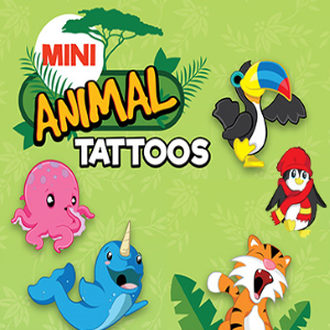 "Mini Animal Tattoos in 1"" Capsules"