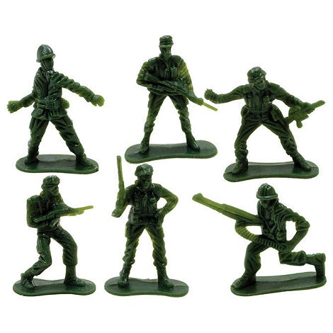 "2"" tall Green Army Toy Soldiers sold in bulk: 144 ct"