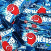 Airheads Blue Raspberry Mini Bars Taffy Candy Product Packaging