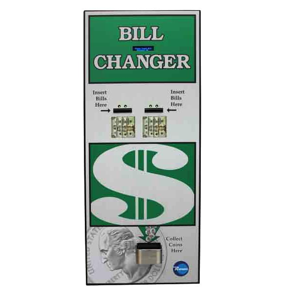 BC1600 Rear Load High Security Bill-to-Coin Changer Front View Product Image