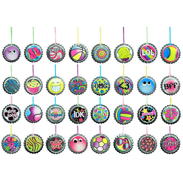 Bottle cap necklaces 2 inch capsules product detail