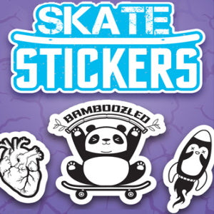 Black & White Skate Stickers Product Image