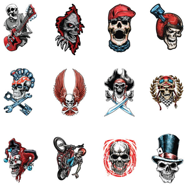 Boneyard Skull Tattoos by Lethal Threat Product Detail
