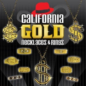 California Gold in 1 inch vending capsules