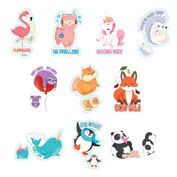 Cute Animal Stickers Product Detail