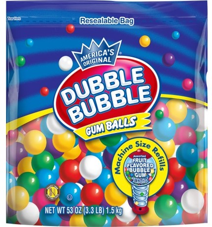 dubble bubble gumballs small size refill bag product detail