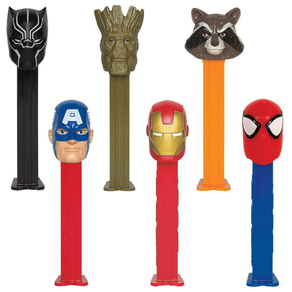 Marvel Comics pez candy dispensers Avengers Endgame Superhero Iron man spiderman Pez Dispensers product detail