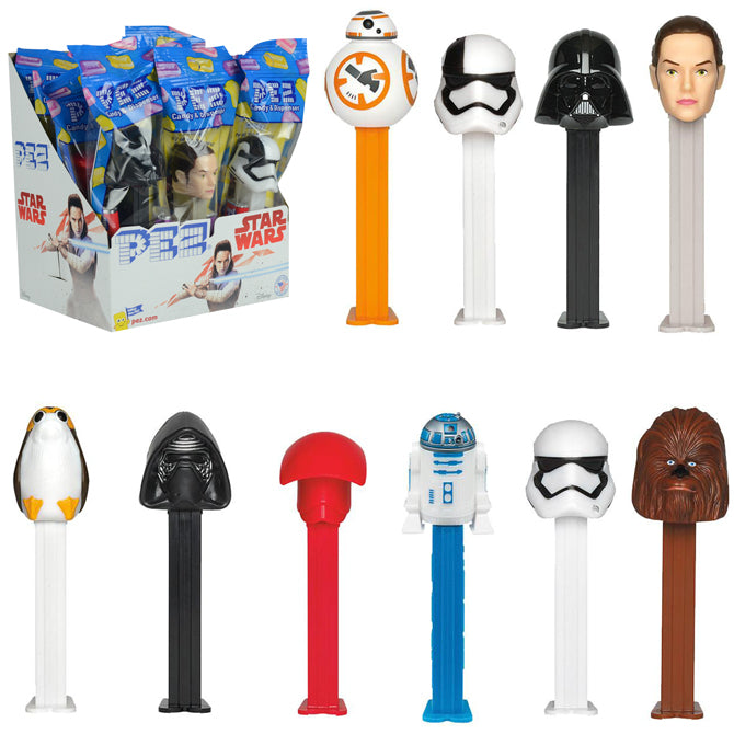 Star wars the last jedi the force awakens disney pez dispensers candy