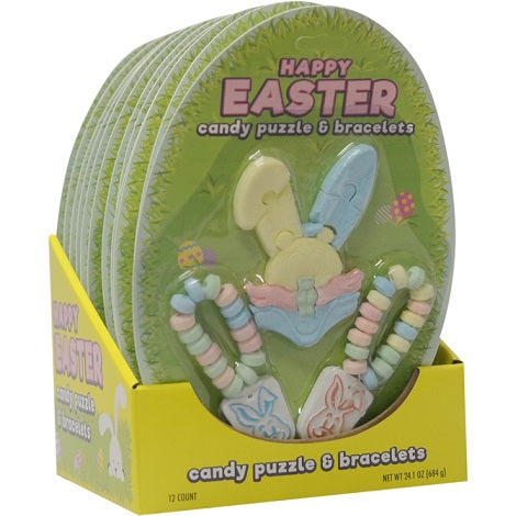 Easter Candy Puzzles & Bracelets 12 ct