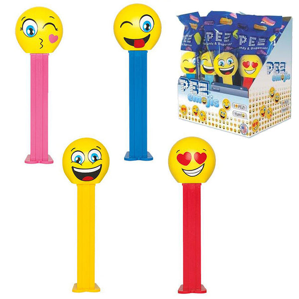 Emojis Pez dispensers with display box