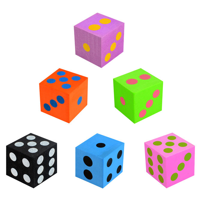 Foam Dice in bulk