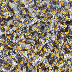 Dad's Root Beer Barrels Candy Individual Pieces Product Close Up