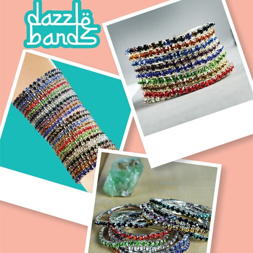 Dazzle Bands Bracelets in 2 inch capsules