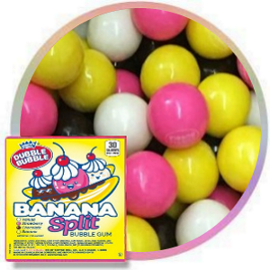 Dubble Bubble Banana Split Gumballs one inch 850 count product image