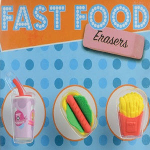 fast food erasers 1 inch capsules