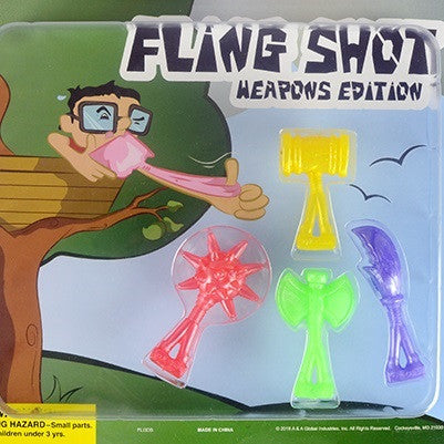 Fling Shot: Weapons Edition 2 inch toy vending capsules
