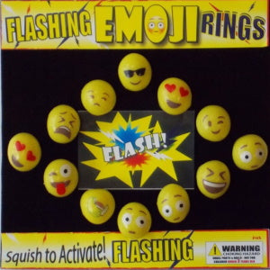 "Flashing Emoji Rings 2"" Capsules Product Image"