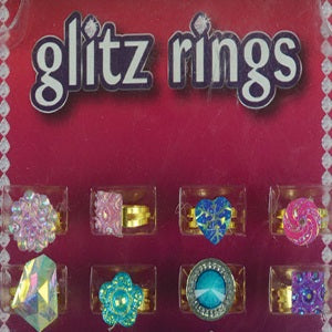 Glitz Rings in 1 inch vending capsules