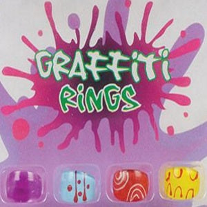 Graffiti Rings 1 inch Capsules
