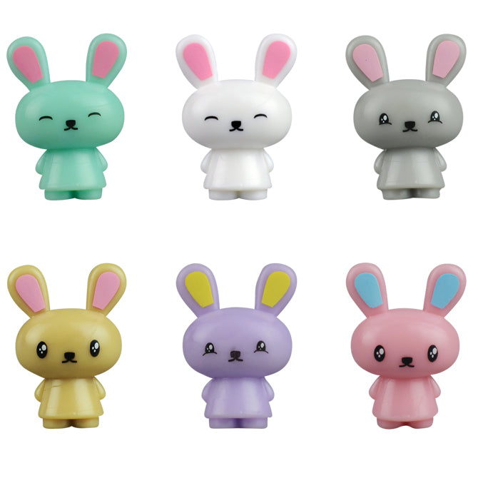 Itty Bitty Bunny Buddies Bulk Toy Cute Colors Hop Carrot Product Detail